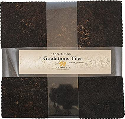 Stonehenge Gradations Blue Planet Stone Tiles 42 10-inch Squares Layer Cake Northcott