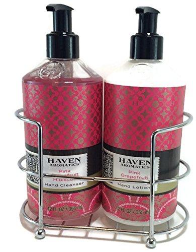 Haven Aromatics 3 Piece Pink Grapefruit Hibiscus Gift Caddy