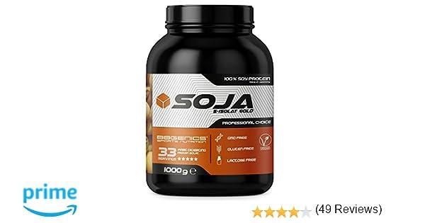 Soja Isolate GOLD - (100% vegetariana de proteína de soja natural, aislado lactosa, proteína natural), 1000g fresa