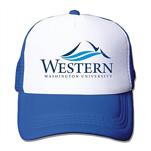 de Azul Washington de nailon Gorra sombrero deporte Universidad 100 Occidental real béisbol adultos 0PTgSqcx