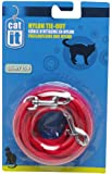 Catit Nylon Cat Tie-out, 15-Feet, Red