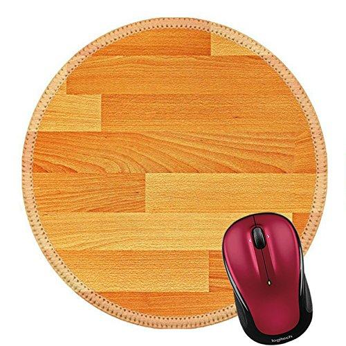 Liili Round Mouse Pad Natural Rubber Mousepad oak parquet texture Photo 14623161
