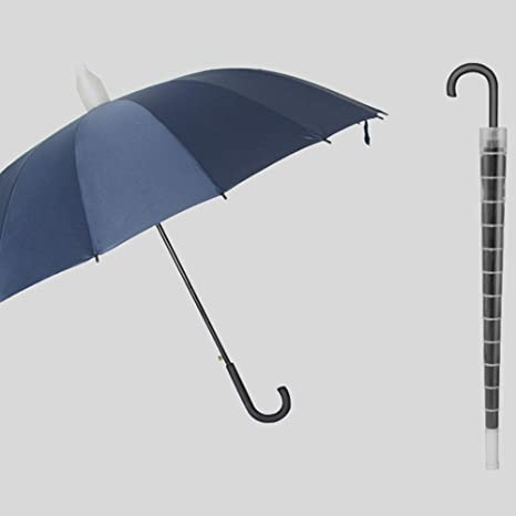 Paraguas Paraguas Impermeable Doble Paraguas automático de Gran tamaño Refuerzo Mango Largo Paraguas Macho (Color