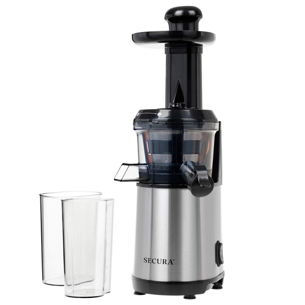 Secura Slow Juicer Masticating Juicer Big Mouth' Cold Press Juicer, Low Speed Juicer for High Nutrient Fruit and Veggies Juice by Secura (Image #7)