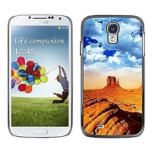 TopCaseStore / la caja del caucho duro de la cubierta de protección de la piel - Desert Mountain Climbing Extreme Orange - Samsung Galaxy S4 I9500