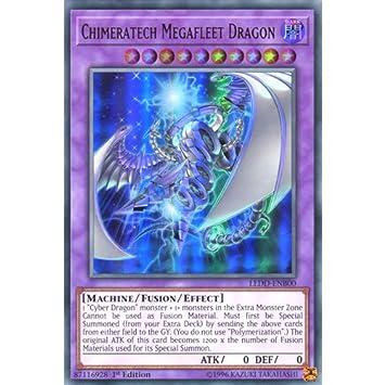 Ultra Rare 1st Edition Near LEDD-ENB00 Chimeratech Megafleet Dragon