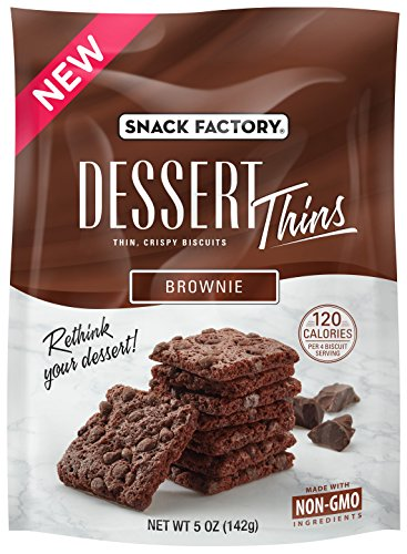 Brownie Dessert (Snack Factory Dessert Thins Crispy Biscuits, Brownie, 5 Ounce (Pack of 6))