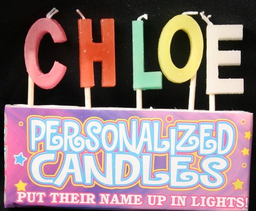 Chloe Letter Shaped Birthday Candles