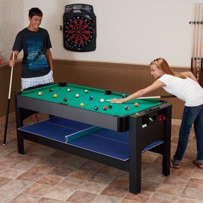 Fat Cat Original 2-in-1, 7-Foot Pockey Game Table (Air Hockey and Billiards) ()
