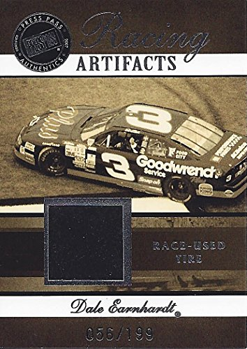 Press Pass Legends Racing (DALE EARNHARDT SR. 2007 Press Pass Legends RACING ARTIFACTS (Race-Used Daytona Tire) Extremely Rare Vintage Collectible NASCAR Trading Card #056/199)