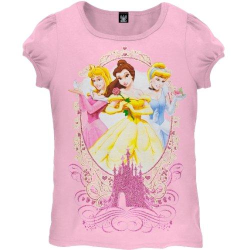 fb391b808 Old Glory - diseño de princesas Disney - ropa de descanso para niñas Juvy ropa  de descanso para niñas Friends T-camiseta de manga corta  Amazon.es  Ropa y  ...