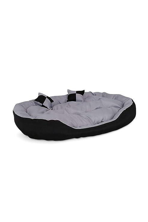 Cama para perros, Colchón para perros (85x70x20 cm, negro/gris)