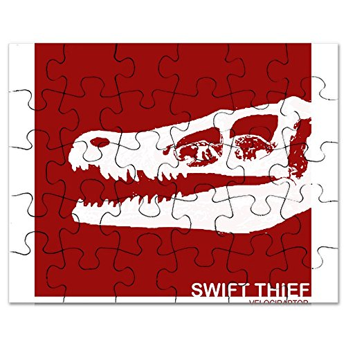 CafePress - Raptor Skull.Png - Jigsaw Puzzle, 30 pcs.