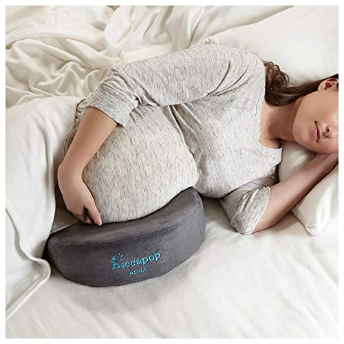 Pillow U Support Body Comfort (hiccapop Pregnancy Pillow Wedge for Maternity | Memory Foam Maternity Pillows Support Body, Belly, Back, Knees)