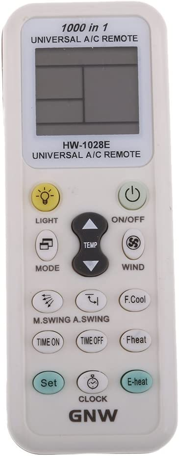 Universal Replacement HW-1028E LCD A//C Remote Control Controller