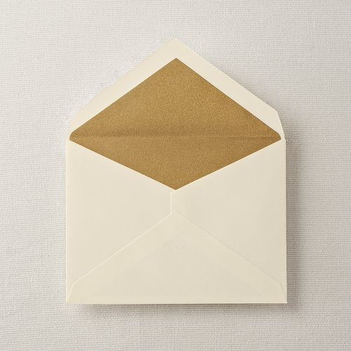 Crane & Co. Ecruwhite Gold Lustre Lined Embassy Envelope ()