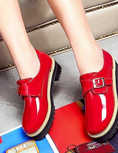 tacones Casual us5 vestido Bajo Rojo Redonda Eu35 Patentado Cn34 Gris cuero Punta us5 Black Mujer Red tacón Ggx Uk3 tacones negro xqE0R8EY