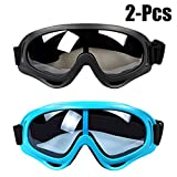 Fansport 2PCS Ski Goggles Unisex Goggles Windproof Adjustable Eyewear Snow Goggles for Outdoor