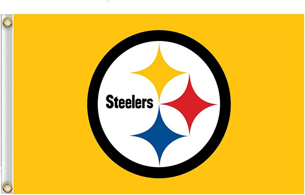 STER-TSP Authentic Football Team Logo Flag Sports Fan Outdoor Flags 35 FT Banner with 2 Brass Grommets