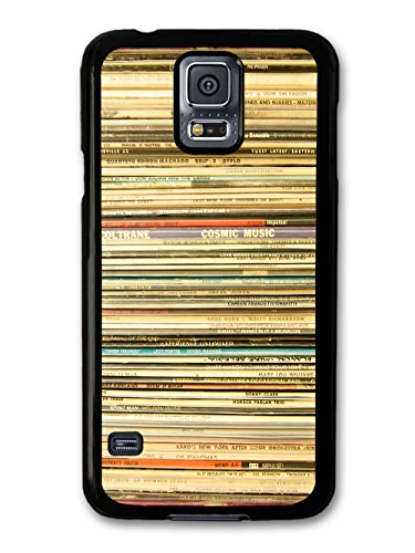 Cool Retro Vinyl Record Collection, Music for Hipsters coque pour Samsung Galaxy S5