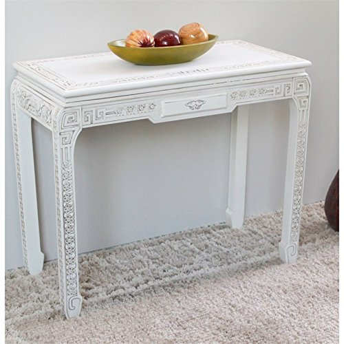 International Caravan ZM-3816-AW-IC Furniture Piece Windsor One Drawer Ming Console Table Ming Console