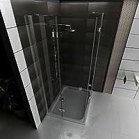 Diseño Esquina. Ducha cabina Incluye cristal vele delung Mampara 120 x 90 x 195 ducha cuarto de baño: Amazon.es: Bricolaje y herramientas