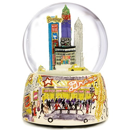 NYC Broadway Musical Water Globe by The San Francisco Music Box - York Square Broadway Times New