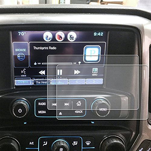 Peel Radio Card - Red Hound Auto 2014-2018 Compatible with Chevy/GMC Silverado/Sierra MyLink Screen Savers 2pc Custom Fit Invisible High Clarity Touch Display Protector Minimizes Fingerprinting 8 Inch