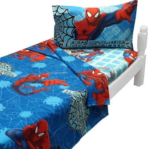Ultimate Spiderman Twin Sheet Set with Pillowcase Marvel Bedding