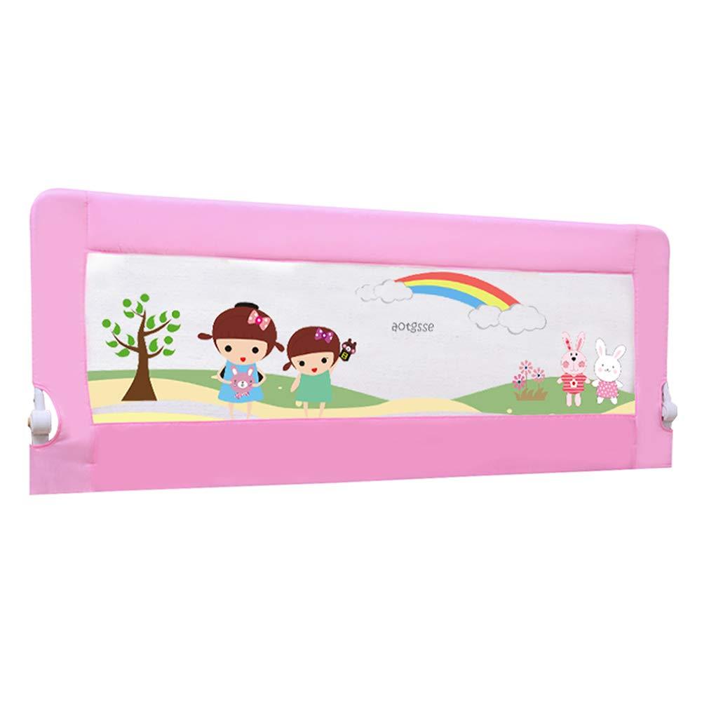 ベッドフェンス, ピンクの折りたたみベビーベッドレール子供/子供のための、ポータブル定位置のベビーベッドのガードレール幼児のための - 68センチメートルの高さ (サイズ さいず : 180cm) 180cm  B07K6LTLNN