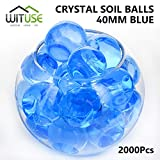 2000PCS WATER BALLS GROWING CRYSTAL SOIL AQUA BEADS 6.8MM BLUE TABLE DECOR