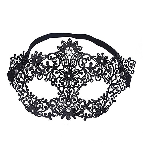 - Mardi Gras Party Masquerade Mask,Halloween Flower Fairy Fashion Metal Hollow Prom Mask Venice Makeup Dance Performance Half Face Eye Mask Prom Masks