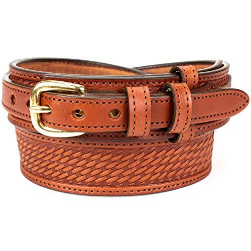Men's English Bridle Basketweave Ranger Belt (Size 54