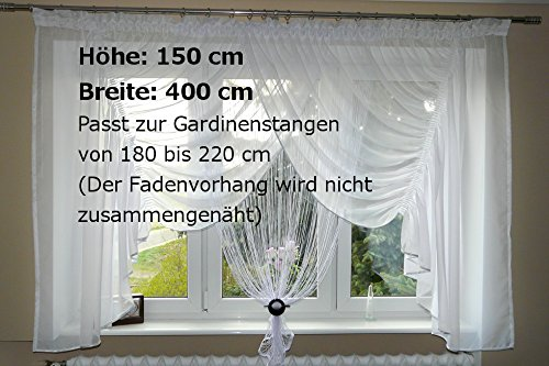 Fertiggardine aus Voile NEU Top Top Top Design SET Schöne Gardine mit Fadenvorhang AG17 B00MPM1EYW Transparente Gardinen 736cd3