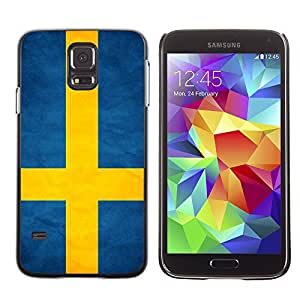 Shell-Star ( National Flag Series-Sweden ) Snap On Hard Protective Case For Samsung Galaxy S5 V SM-G900