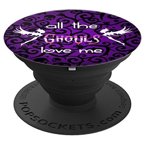 Cute Halloween Ghouls Love Me Lesbian Pride Flag LGBT Ghosts - PopSockets Grip and Stand for Phones and Tablets