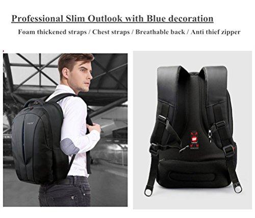 kopack Laptop Backpack Slim Computer Travel Bag Anti Theft Water Resistant 15.6 Inch Black KP492 by kopack (Image #1)