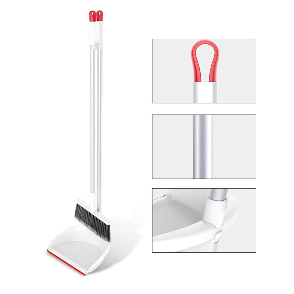 YJIUJIU Dust Pan and Broom/Dustpan Combination Cleans Broom Combo with Handle for Home Kitchen Room Office Lobby Floor Use Upright Stand up Dustpan Broom Set Cleaning Tools