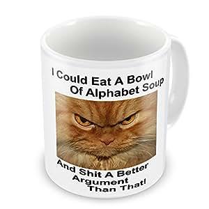 I Eat puedes tirar A cuenco de sopa de letras de y SH * T un mejor que argumento que diseño de taza