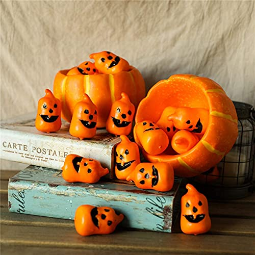 Hawesome 10pcs Artificial Grimace Pumpkins Fake Pumpkin Decorations Craft Kit for Halloween Home Decoration