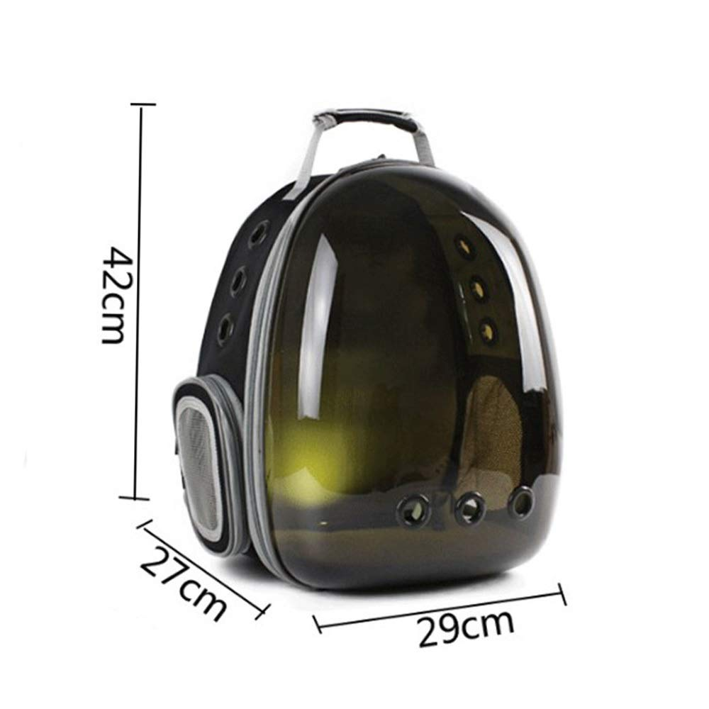 Brown 324229cmFELICIPP Cat Backpack Transparent Space Capsule Pet Out Carrying Backpack (color   Green, Size   32  42  29cm)