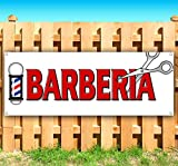 BARBERIA 13 oz Heavy Duty Vinyl Banner Sign with Metal Grommets, New, Store, Advertising, Flag, (Many Sizes Available)