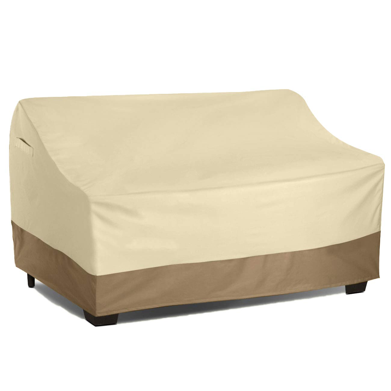 Vanteriam Waterproof Bench/Loveseat Cover, Large Outdoor Furniture Covers Waterproof for Loveseat/Bench.