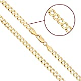 Kyпить Joule Shop 14K Solid Yellow Gold 5mm Cuban Curb Chain Necklace with Lobster Clasp, 28-inches на Amazon.com