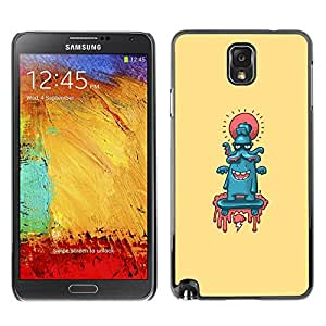 // PHONE CASE GIFT // Duro Estuche protector PC Cáscara Plástico Carcasa Funda Hard Protective Case for Samsung Note 3 N9000 / Pulpo lindo Resumen /
