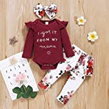 Newborn Toddler Baby Girls Outfits Ruffle Sleeves
