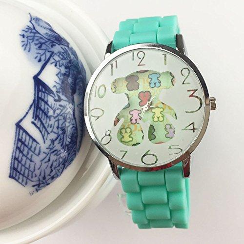 Español oso, de silicona relojes nueva Casual Fashion Digital Arabia de alta calidad reloj de cuarzo Relogio feminino regalo para las mujeres: Amazon.es: ...