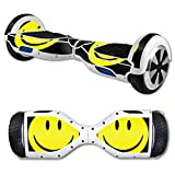 MightySkins Protective Vinyl Skin Decal for Hover Board Self Balancing Scooter mini 2 wheel x1 razor wrap cover sticker Smiley Face