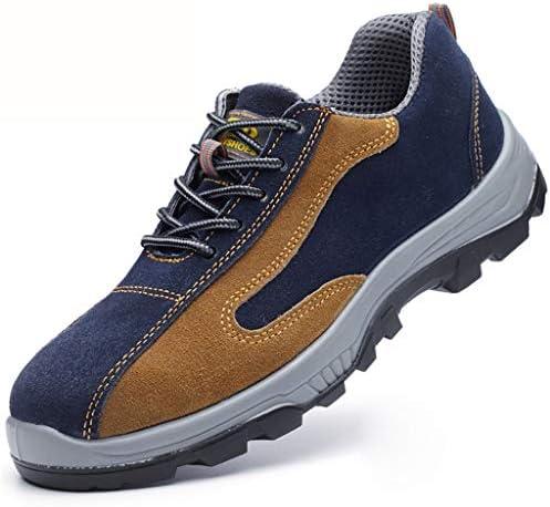 作業靴 電気絶縁滑り止めアイアンファイリングメンズ労働保険靴、皮脂防止、匂い防止、粉砕防止、ピアス防止、古い安全靴 安全靴 (色 : H h, サイズ さいず : 45)