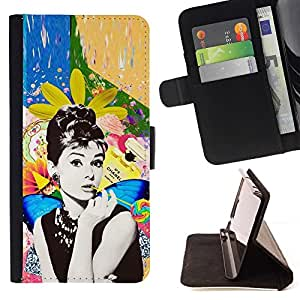 Momo Phone Case / Flip Funda de Cuero Case Cover - Foto Actriz Estrella de Hollywood 60'S - Samsung Galaxy Note 5 5th N9200